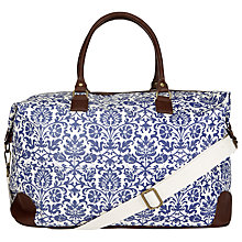 Buy John Lewis Floral Weekend Holdall, Blue Online at johnlewis.com