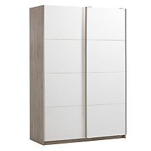 Buy House by John Lewis Mix It 150cm Sliding Door Wardrobe, Mirror/Grey Ash Online at johnlewis.com