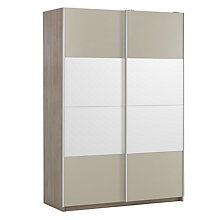 Buy House by John Lewis Mix it 150cm Sliding Door Wardrobe, Matt House Mocha and Mirror/Grey Ash Online at johnlewis.com