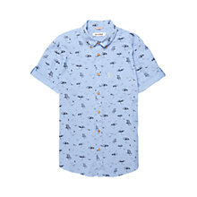 Buy Ben Sherman Deckchair Short Sleeve Shirt, Washed Blue Online at johnlewis.com
