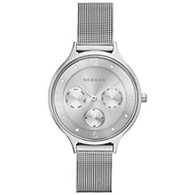 Buy Skagen SKW2312 Women's Anita Steel Mesh Bracelet Watch, Silver Online at johnlewis.com
