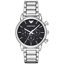 Buy Emporio Armani Ar1853 Men's Luigi Stainless Steel Watch, Black Online at johnlewis.com