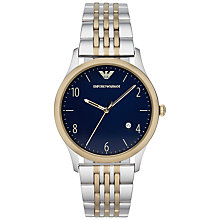 Buy Emporio Armani AR1868 Men's Beta Stainless Steel Watch, Blue Online at johnlewis.com