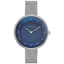 Buy Skagen SKW2293 Women's Gitte Steel Mesh Strap Watch, Dark Blue Online at johnlewis.com