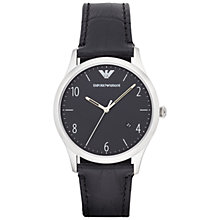 Buy Emporio Armani Ar1865 Men's Beta Leather Watch, Black Online at johnlewis.com