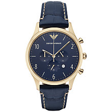 Buy Emporio Armani Ar1862 Men's Beta Leather Watch, Blue Online at johnlewis.com