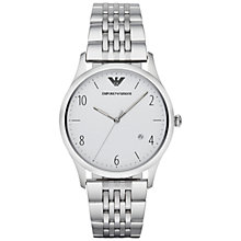 Buy Emporio Armani Ar1867 Men's Beta Stainless Steel Watch, White Online at johnlewis.com