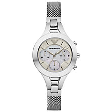 Buy Emporio Armani Ar7389 Women's Chiara Bracelet Watch, Silver Online at johnlewis.com