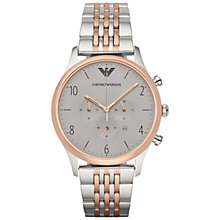 Buy Emporio Armani Ar1864 Men's Beta Stainless Steel Watch, Grey Online at johnlewis.com