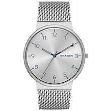 Buy Skagen SKW6163 Men's Ancher Steel Mesh Watch, Silver Online at johnlewis.com