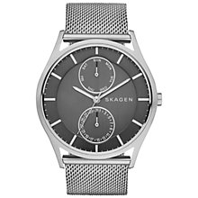 Buy Skagen SKW6172 Men's Holst Steel Mesh Bracelet Watch, Silver/Grey Online at johnlewis.com