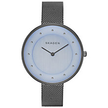 Buy Skagen SKW2292 Women's Gitte Steel Mesh Strap Watch, Grey Blue Online at johnlewis.com