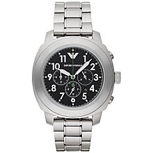 Buy Emporio Armani Ar6056 Men's Delta Stainless Steel Watch, Black Online at johnlewis.com