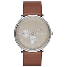 Buy Skagen SKW6168 Men's Hald Leather Strap Watch Online at johnlewis.com