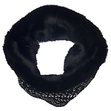 Buy French Connection Lina Knitted Snood, Black Online at johnlewis.com