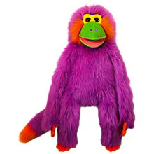 Buy The Puppet Company: Funky Monkey, Purple Online at johnlewis.com