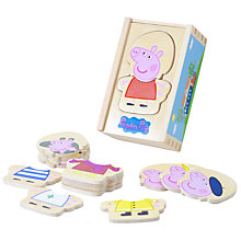 Buy Peppa Pig Wooden Dress Up Game Online at johnlewis.com