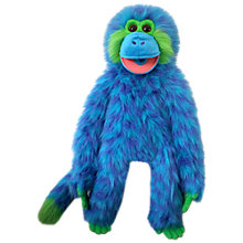 Buy The Puppet Company: Funky Monkey, Blue Online at johnlewis.com