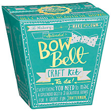 Buy The Makery Make A Bow Belt Kit, Multi Online at johnlewis.com