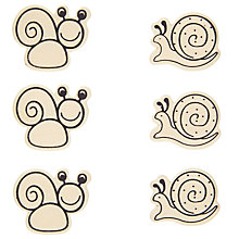 Buy John Lewis Wooden Snails Toppers, Pack of 6 Online at johnlewis.com