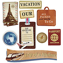 Buy John Lewis Vacation Motif Toppers, Pack of 9 Online at johnlewis.com