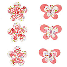 Buy John Lewis Printed Flower and Butterfly Paper Toppers, Pack of 18, Multi Online at johnlewis.com