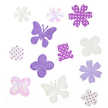 Buy John Lewis Paper Animal Card Toppers, Pack of 12, White/Purple Online at johnlewis.com