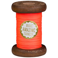Buy The Makery Neon Ribbon on Wooden Spool, 3m Online at johnlewis.com