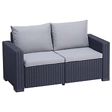 Buy Suntime California Outdoor 2-Seater Sofa, Graphite Online at johnlewis.com
