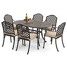 Buy Suntime Buckingham Aluminium 6-Seater Dining Set Online at johnlewis.com