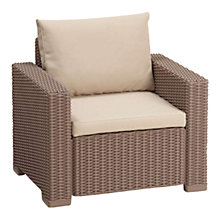 Buy Suntime California Outdoor Pair of Armchairs, Brown Online at johnlewis.com