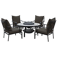 Buy Leisuregrow Casablanca Firepit 4-Seater Dining Set Online at johnlewis.com