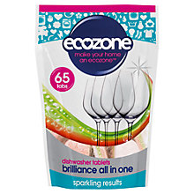 Buy Ecozone Brilliance Dishwasher Liquid, Pack of 65 Online at johnlewis.com