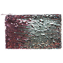 Buy Miss Selfridge Sequin Clutch Bag, Silver Online at johnlewis.com