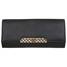 Buy Miss Selfridge Quilt Lock Clutch Bag, Black Online at johnlewis.com