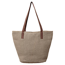 Buy East Ria Classic Jute Bag, Stone Online at johnlewis.com