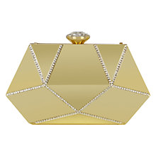 Buy Coast Mara Clutch Bag, Gold Online at johnlewis.com