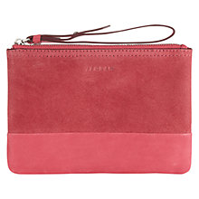 Buy Jigsaw Contrast Make Up Bag, Coral Online at johnlewis.com