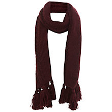 Buy Miss Selfridge Cable Fringe Scarf Online at johnlewis.com