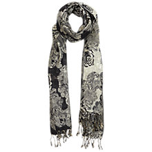 Buy Miss Selfridge Rose Shimmer Scarf, Black Online at johnlewis.com
