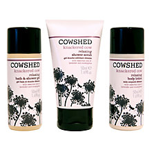 Buy Cowshed  Knackered Cow Discovery Bath Set Online at johnlewis.com