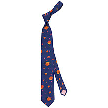 Buy Thomas Pink Mitchan Flower Tie, Navy/Orange Online at johnlewis.com
