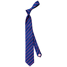 Buy Thomas Pink Dursley Stripe Woven Silk Tie, Navy/Pink Online at johnlewis.com