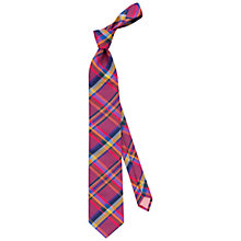 Buy Thomas Pink Grinstead Check Silk Tie Online at johnlewis.com
