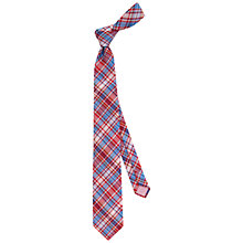 Buy Thomas Pink Bedale Check Woven Silk Tie Online at johnlewis.com