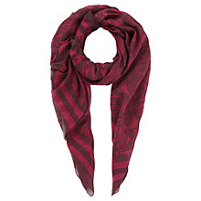 Buy Jigsaw Hibiscus Print Scarf, Magenta Online at johnlewis.com