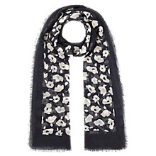 Buy Jigsaw Graphic Poppy Print Scarf, Blue Online at johnlewis.com