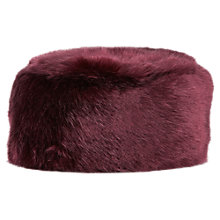 Buy Jacques Vert Shiraz Fur Cossack, Dark Red Online at johnlewis.com