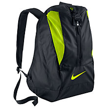 Buy Nike Football Shield Backpack, Black Online at johnlewis.com