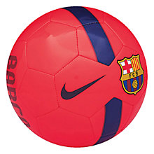 Buy Nike FC Barcelona Supporters Football, Size 5, Red/Blue Online at johnlewis.com